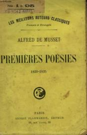 Premieres Poesies. 1829 -1835. - Couverture - Format classique