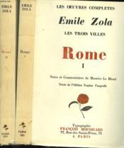 Les Trois Villes. Rome. Tome I E Ii. - Couverture - Format classique
