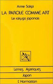 La parole comme art ; le rakugo japonais - Intérieur - Format classique
