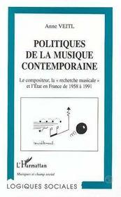 Politiques De La Musique Contemporaine - Intérieur - Format classique