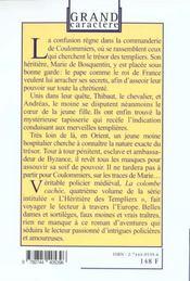 Les Chevaliers De La Quarantaine T.4 ; La Colombe Cachee - 4ème de couverture - Format classique