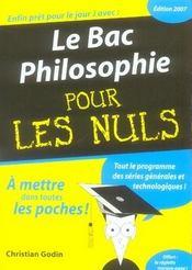 Le Bac Philosophie Pour Les Nuls - Intérieur - Format classique