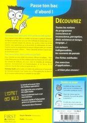Le Bac Philosophie Pour Les Nuls - 4ème de couverture - Format classique