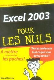 Excel 2003 pour les nuls - Intérieur - Format classique