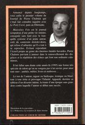 Mauvaises Fois ; Journal 1995 - 4ème de couverture - Format classique