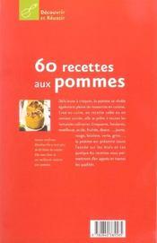 60 recettes aux pommes - 4ème de couverture - Format classique