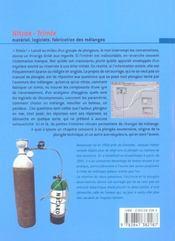Nitrox-Trimix : Materiel Logiciels - 4ème de couverture - Format classique