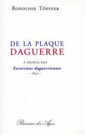 De la plaque daguerre - Couverture - Format classique