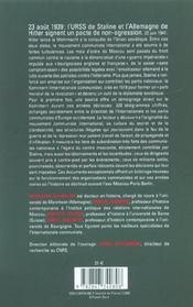 Moscou-Paris-Berlin 1939-1941 Telegrammes Chiffres Du Komintern - 4ème de couverture - Format classique