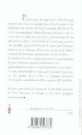 Le petit ouvrage inachevé - 4ème de couverture - Format classique
