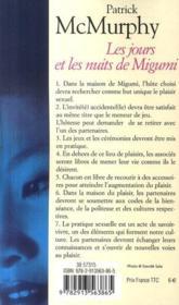 Les jours et les nuits de Migumi - 4ème de couverture - Format classique