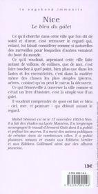 Nice Le Bleu Du Galet - 4ème de couverture - Format classique