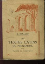 Les Textes Latins Du Programme - Classe De Cinquieme - Couverture - Format classique