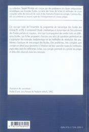 Mecanique Des Fluides Fiches Methodes Et Problemes Corriges 2e Annee Pc-Psi - 4ème de couverture - Format classique