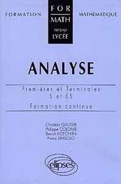 Analyse Premieres Et Terminales S Et Es - Intérieur - Format classique
