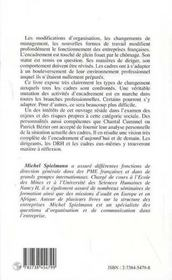 Quel Avenir Pour Les Cadres ; L'Encadrement Dans L'Entreprise De Demain - 4ème de couverture - Format classique