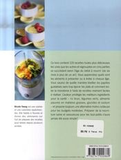 Recettes pour bébé ; 125 repas santé à préparer au mélangeur - 4ème de couverture - Format classique