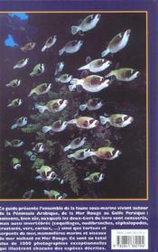 Mer Rouge - Guide Du Recif Corallien - 4ème de couverture - Format classique