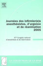 Journees des infirmier(e)s anesthesistes 2005 - Couverture - Format classique