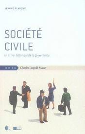 Société civile ; un acteur historique de la gouvernance - Intérieur - Format classique