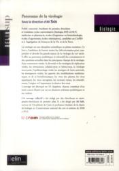 Panorama de la virologie - 4ème de couverture - Format classique