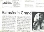 Le Petit Journal Des Grandes Expositions N°37. 15 Mai-17 Octobre 1976. Ramses Le Grand. - Couverture - Format classique