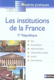 Institutions de la france  - Bernard De Gunten