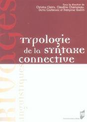 Typologie de la syntaxe connective - Intérieur - Format classique