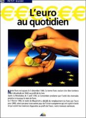 L'euro au quotidien - Couverture - Format classique