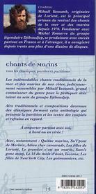 Chants De Marins Tous Les Classiques Paroles Et Partitions - 4ème de couverture - Format classique