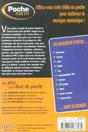Guide De La Musique Numerique - 4ème de couverture - Format classique