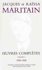 Oeuvres Completes Maritain V - Couverture - Format classique