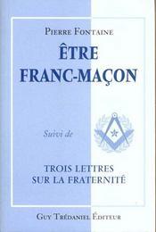 Etre franc-macon - Intérieur - Format classique