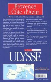 Provence Cote D'Azur 2001 - 4ème de couverture - Format classique