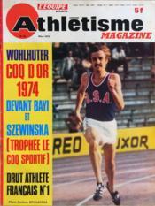 Athletisme Magazine N°62 du 01/03/1975 - Couverture - Format classique