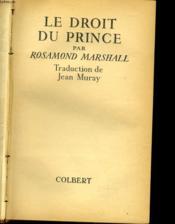 Le Droit Du Prince - Couverture - Format classique