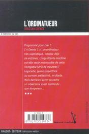 L'ordinatueur - 4ème de couverture - Format classique