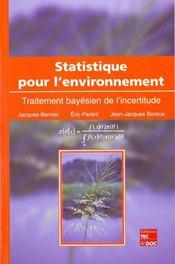 Statistique pour l'environnement ; traitement bayesien de l'incertitude - Intérieur - Format classique
