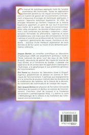 Statistique pour l'environnement ; traitement bayesien de l'incertitude - 4ème de couverture - Format classique