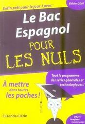 Le Bac Espagnol Pour Les Nuls - Intérieur - Format classique
