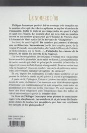 Nombre D'Or - 4ème de couverture - Format classique