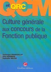 Qcm Culture Generale Concours De La Fonction Publique - Intérieur - Format classique