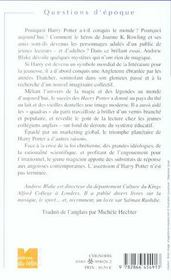 L'Irrésistible Ascension D'Harry Potter - 4ème de couverture - Format classique