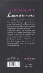 Lettres A La Novice - 4ème de couverture - Format classique