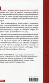 La santé psychologique des pompiers - 4ème de couverture - Format classique