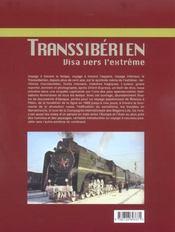 Transsiberien, Visa Vers L'Extreme - 4ème de couverture - Format classique