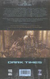 Star wars - dark times t.1 ; l'âge sombre - 4ème de couverture - Format classique