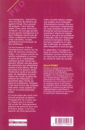 Éduquer ; enseignants, élèves, écoles, éthiques, sociétés - 4ème de couverture - Format classique