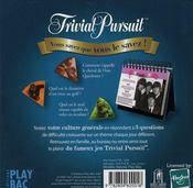 Trivial Pursuit ; 365 jours pour tester sa culture générale - 4ème de couverture - Format classique