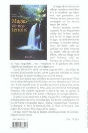 Magies de nos terroirs - 4ème de couverture - Format classique